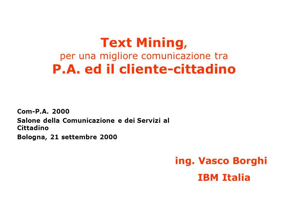 Text Mining, per una migliore comunicazione tra P.A.