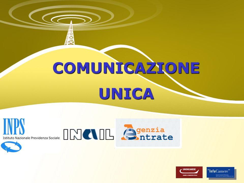 Adempimenti AE, INAIL, INPS, RI, AA Albo Artigiani: coordinamento regionale