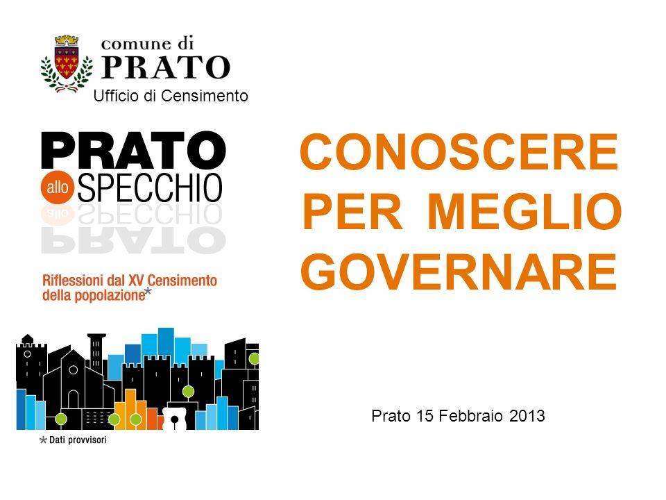 CONOSCERE PER MEGLIO GOVERNARE Prato 15 Febbraio 2013 Ufficio di Censimento