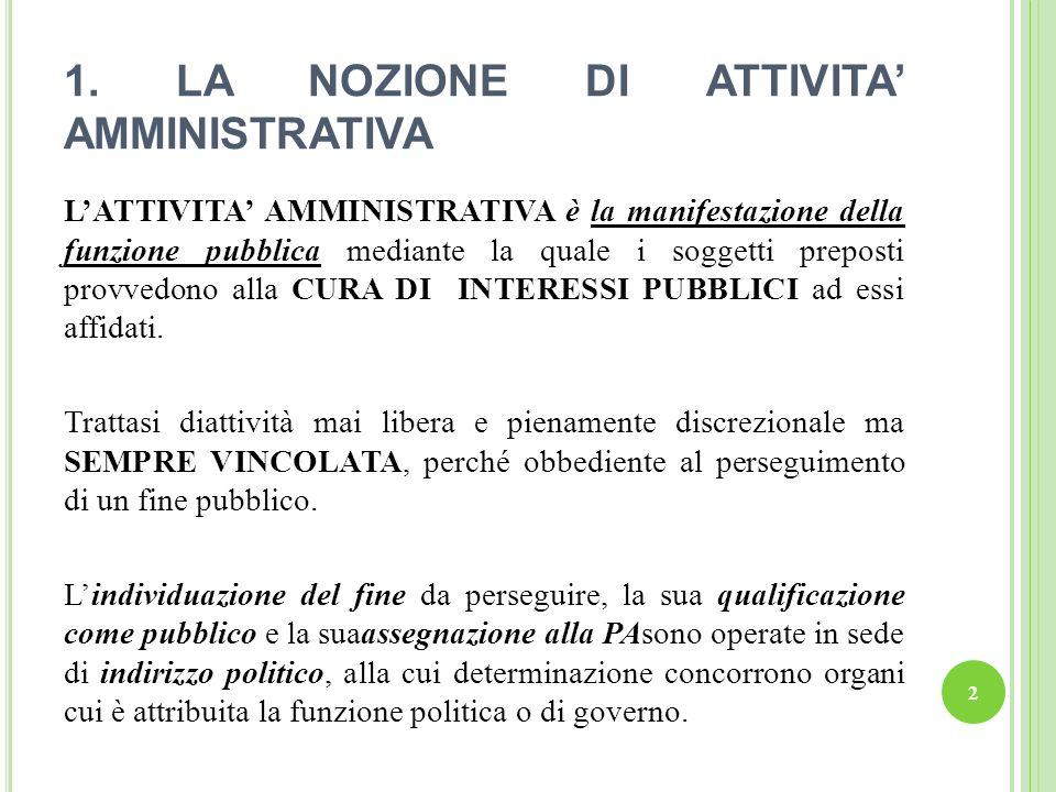 23 A) Il PRINCIPIO DI IMPARZIALITA va inteso come equidistanza tra più soggetti pubblici o privati che vengono in contatto con la PA.