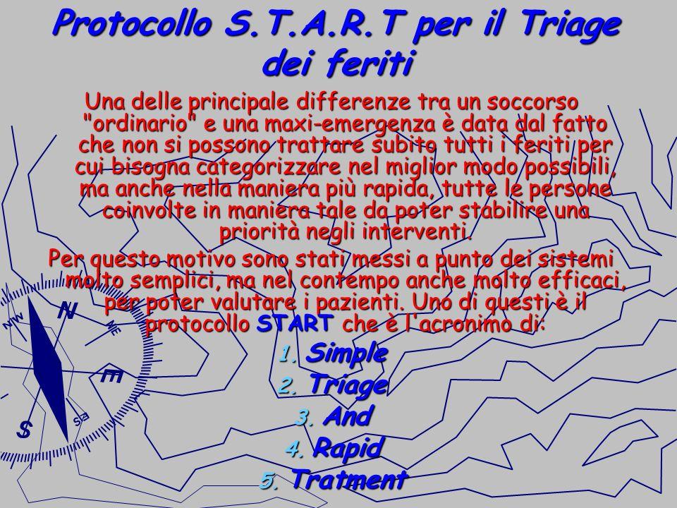 Protocollo S.T.A.R.T per il Triage dei feriti Una delle principale differenze tra un soccorso