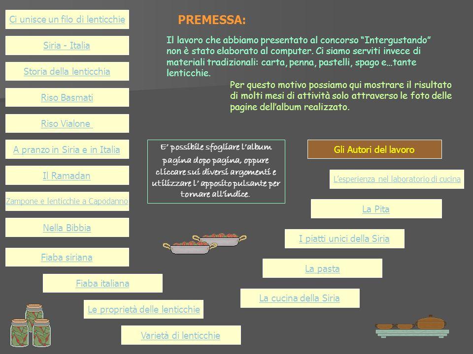 Il lavoro che abbiamo presentato al concorso Intergustando non è stato elaborato al computer.