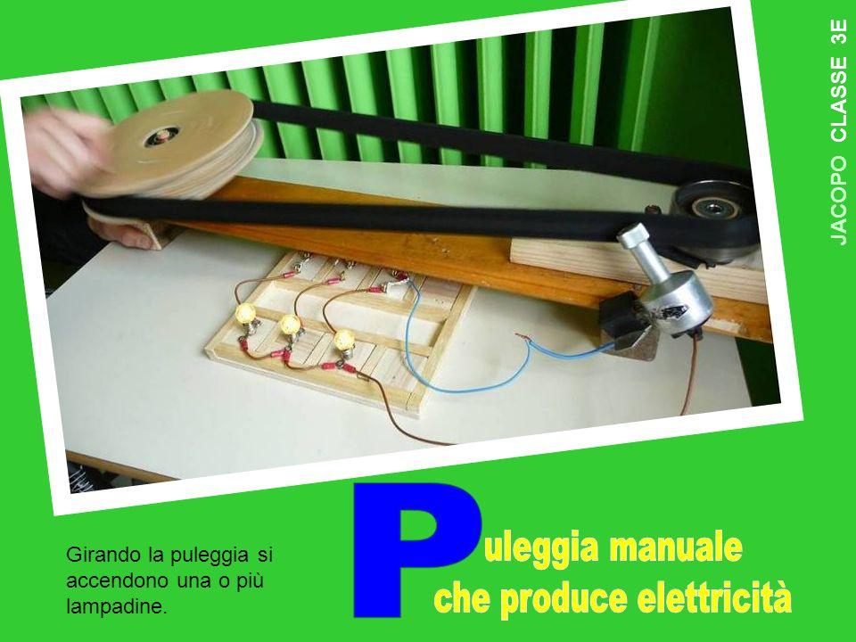 J A C O P O C L A S S E 3 E Girando la puleggia si accendono una o più lampadine.