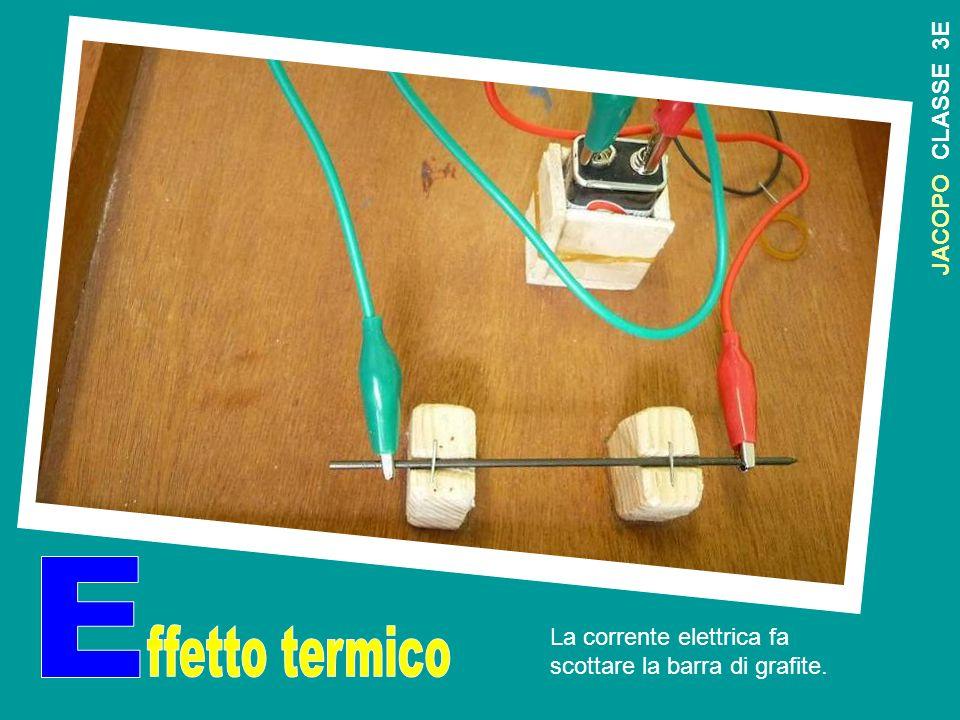 J A C O P O C L A S S E 3 E La corrente elettrica fa scottare la barra di grafite.
