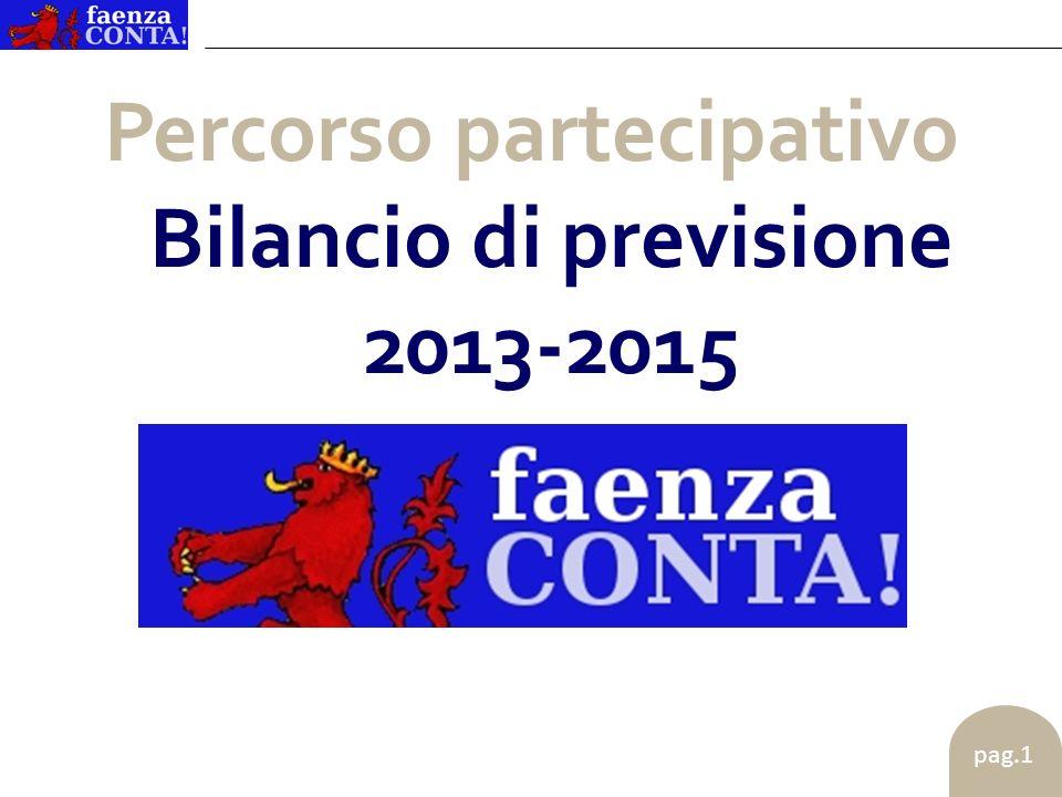 pag.1 Percorso partecipativo Bilancio di previsione 2013-2015