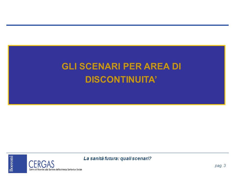 La sanità futura: quali scenari.pag. 74 Set di scenari La geografia dei servizi territoriali 1.