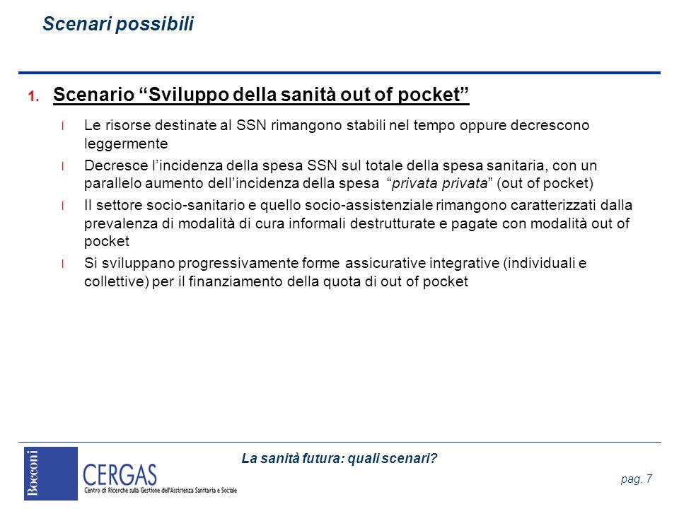 La sanità futura: quali scenari.pag. 48 Set di scenari Le gerarchie organizzative 1.