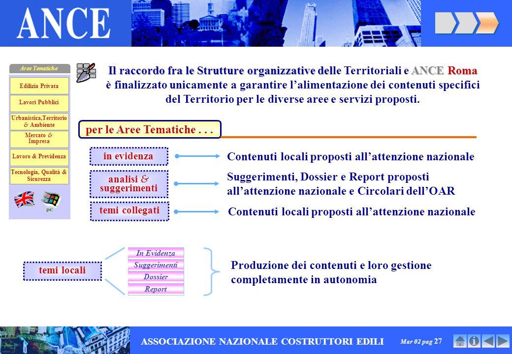 Mar 02 pag 27 ASSOCIAZIONE NAZIONALE COSTRUTTORI EDILI per le Aree Tematiche...