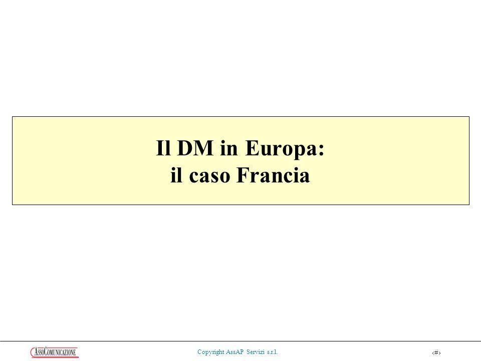 56 Copyright AssAP Servizi s.r.l. Il DM in Europa: il caso Francia