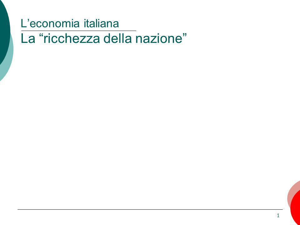 1 Leconomia italiana La ricchezza della nazione