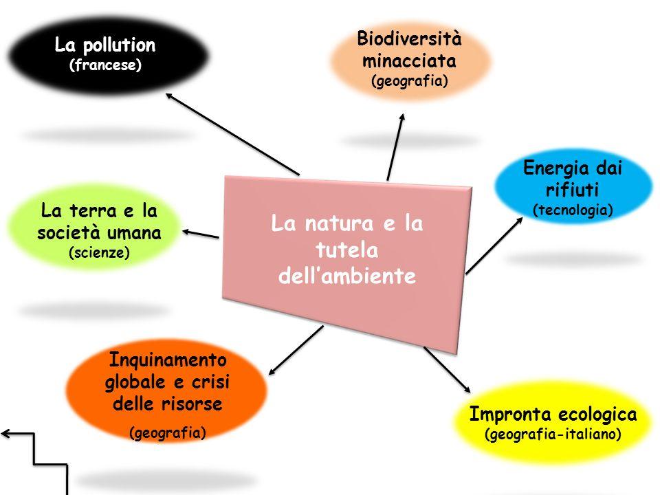 La natura e la tutela dellambiente La pollution (francese) La terra e la società umana (scienze) Biodiversità minacciata (geografia) Energia dai rifiu