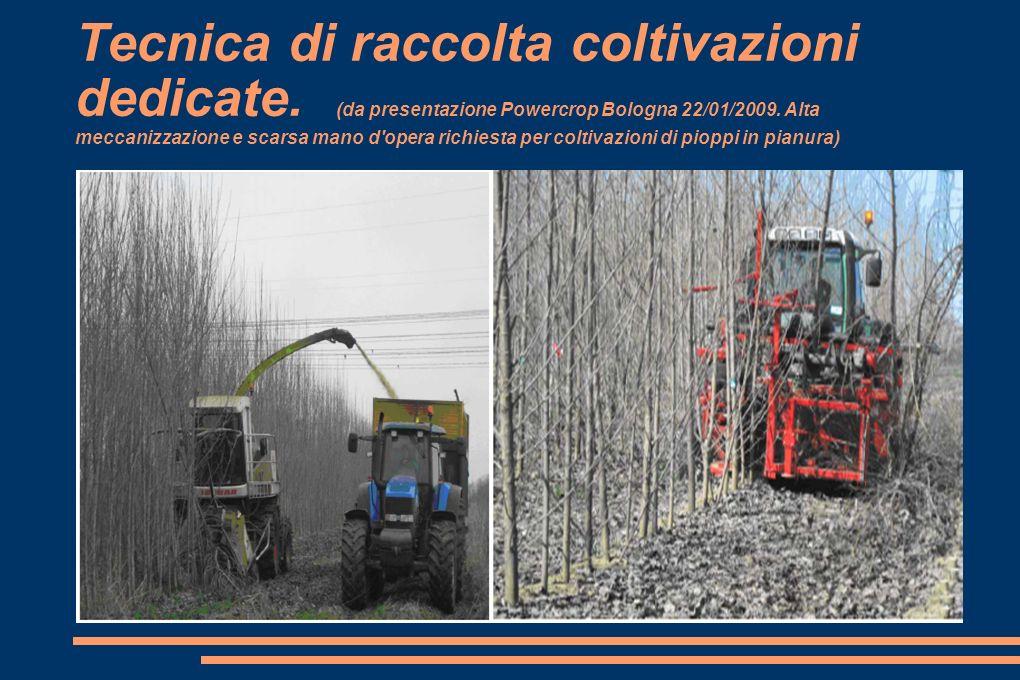 Tecnica di raccolta coltivazioni dedicate.(da presentazione Powercrop Bologna 22/01/2009.