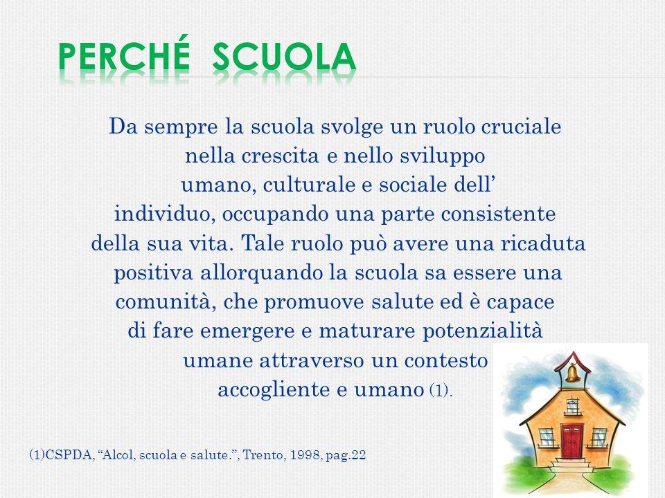 Da sempre la scuola svolge un ruolo cruciale nella crescita e nello sviluppo umano, culturale e sociale dell individuo, occupando una parte consistent