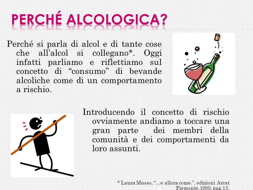 Perché si parla di alcol e di tante cose che allalcol si collegano*. Oggi infatti parliamo e riflettiamo sul concetto di consumo di bevande alcoliche