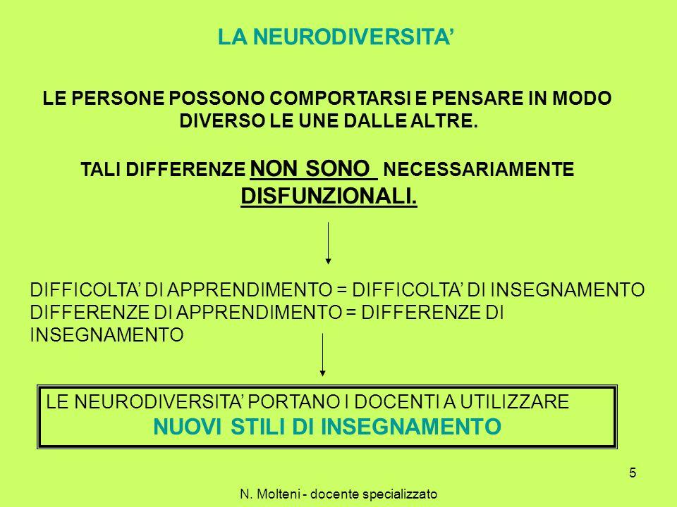 5 LA NEURODIVERSITA LE PERSONE POSSONO COMPORTARSI E PENSARE IN MODO DIVERSO LE UNE DALLE ALTRE. TALI DIFFERENZE NON SONO NECESSARIAMENTE DISFUNZIONAL
