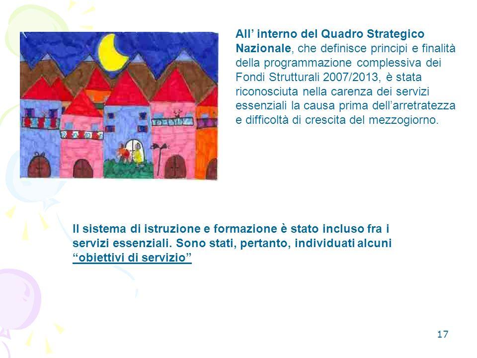 17 Il sistema di istruzione e formazione è stato incluso fra i servizi essenziali.