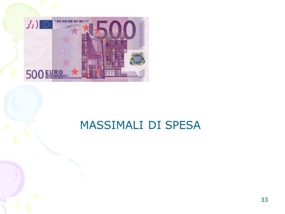 33 MASSIMALI DI SPESA