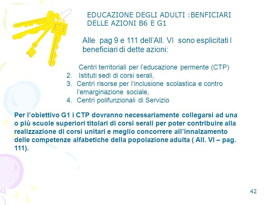 42 1.Centri territoriali per leducazione permente (CTP) 2.