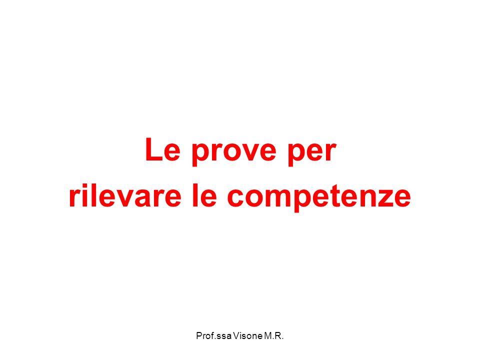 Prof.ssa Visone M.R. Le prove per rilevare le competenze