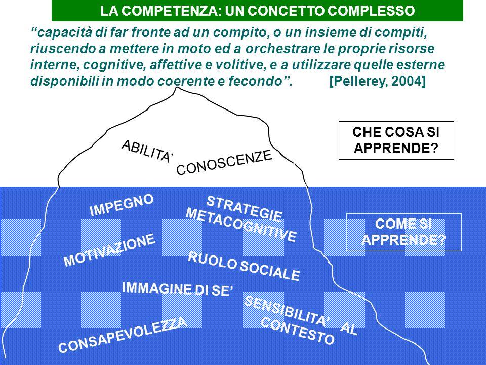 Prof.ssa Visone M.R. ABILITA CONOSCENZE IMMAGINE DI SE SENSIBILITA AL CONTESTO CONSAPEVOLEZZA MOTIVAZIONE STRATEGIE METACOGNITIVE RUOLO SOCIALE IMPEGN