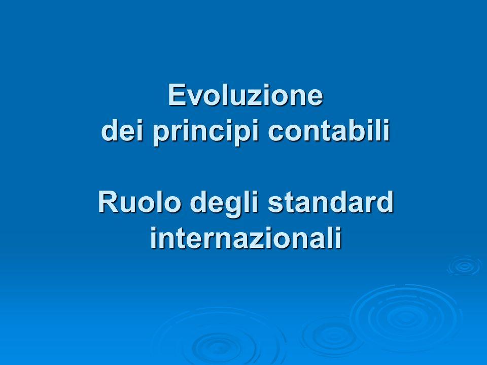 Evoluzione dei principi contabili/3 Introduzione degli IAS D.LGS.