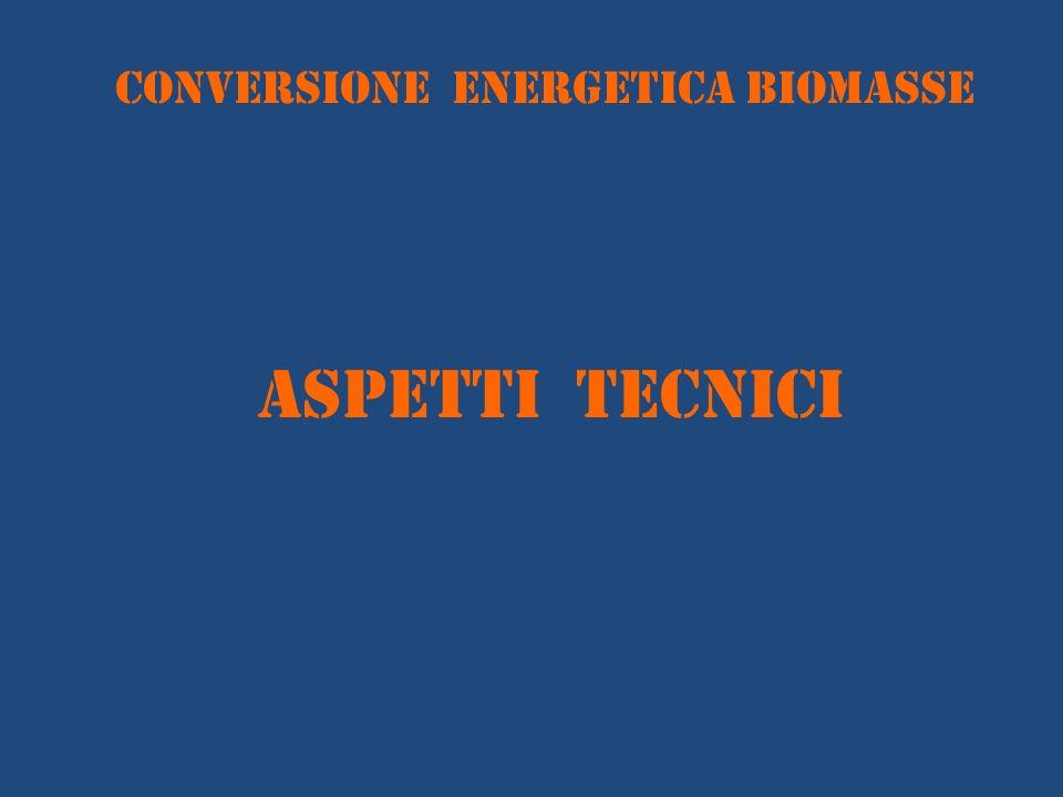 conversione energetica BIOMASSE ASPETTI TECNICI