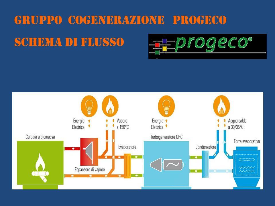 GRUPPO COGENERAZIONE PROGECO SCHEMA DI FLUSSO