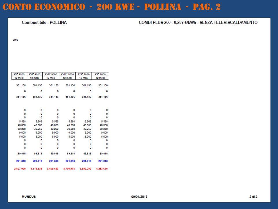 CONTO ECONOMICO - 200 kWe - POLLINA - Pag. 2