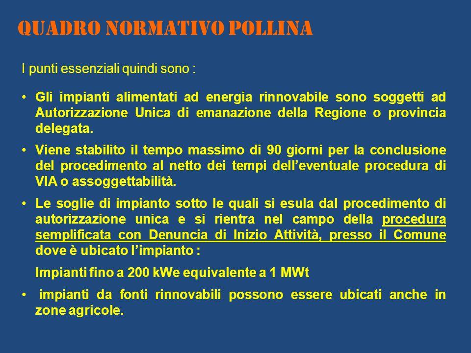 I punti essenziali quindi sono : Gli impianti alimentati ad energia rinnovabile sono soggetti ad Autorizzazione Unica di emanazione della Regione o pr