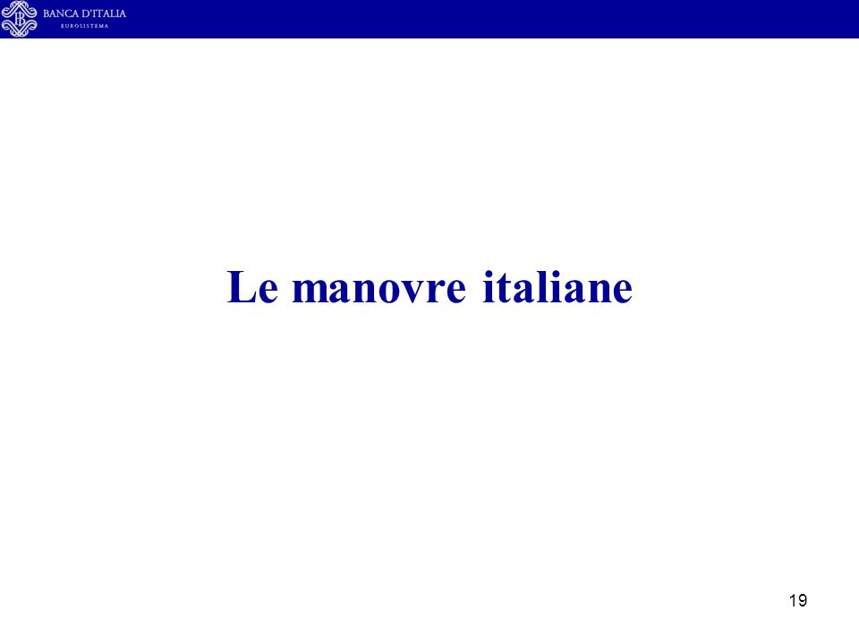 19 Le manovre italiane