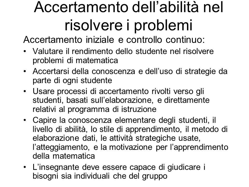 Insegnamento delle strategie cognitive Strategie di monitoraggio individuale aiutano i risolutori di problemi a Acquisire la conoscenza strategica e a