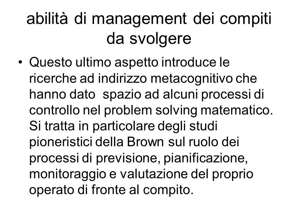 la soluzione dei problemi matematici richiede competenze cognitive abilità che definiscono la competenza testuale (comprensione lessicale, sintattica