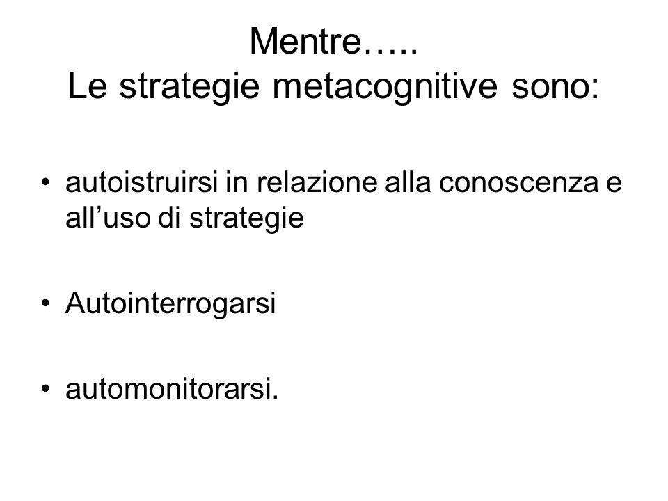 Riepilogando…… Lintervento suggerito si basa sulla esplicitazione al soggetto di sette fondamentali categorie di strategie e processi cognitivi e tre