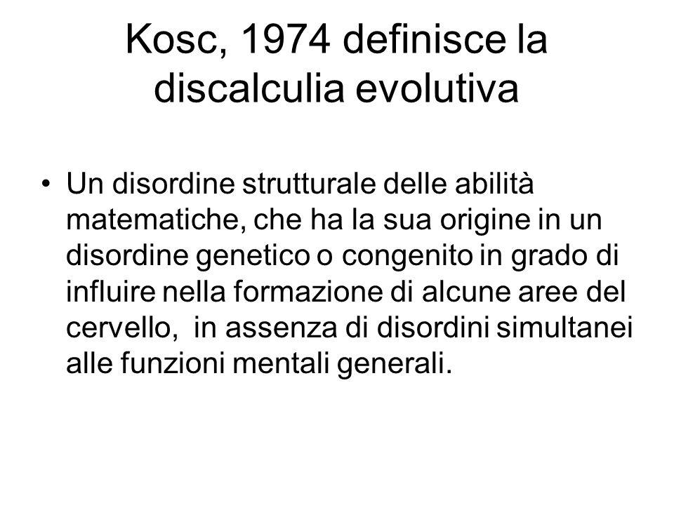 Henschen nel 1919 introdusse il termine di acalculia per designare: qualsiasi tipo di compromissione nelluso dei numeri e in senso più stretto per des