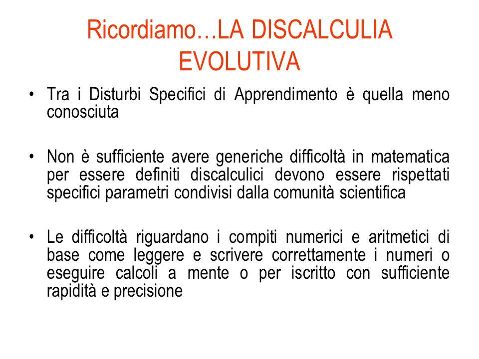 ERRORI NEL SISTEMA DI CALCOLO: Errori nel recupero di fatti aritmetici es. 3+3=9; es. 3x3=6 Errori nel mantenimento e nel recupero delle procedure es.