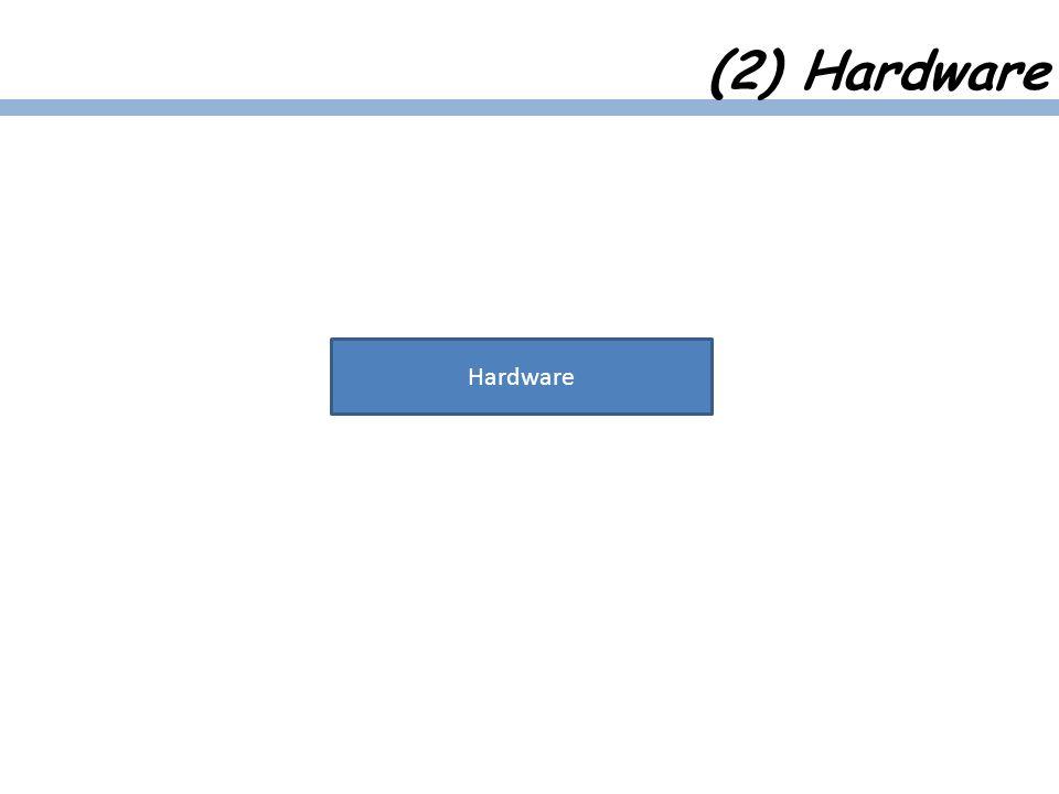 Hardware (2) Hardware