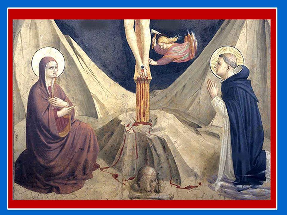 La maniera di pregare che Domenico realizzava sempre davanti a Gesù Crocifisso, esprime un atteggiamento corporale e uno spirituale che, intimamente compenetrati, favoriscono il raccoglimento e il fervore.