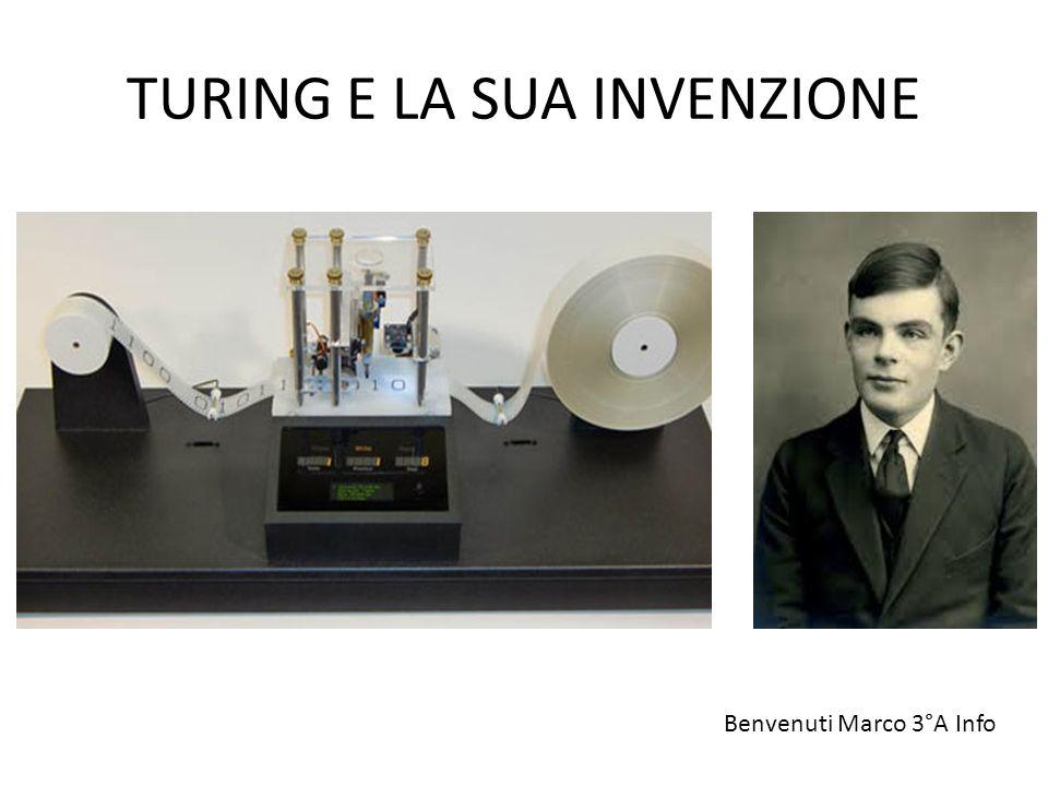 TURING E LA SUA INVENZIONE Benvenuti Marco 3°A Info