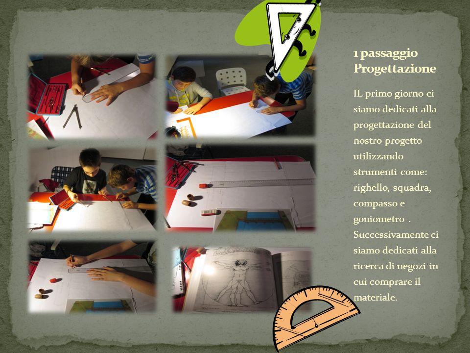 IL primo giorno ci siamo dedicati alla progettazione del nostro progetto utilizzando strumenti come: righello, squadra, compasso e goniometro.