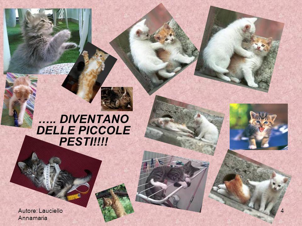 Autore: Lauciello Annamaria 4 ….. DIVENTANO DELLE PICCOLE PESTI!!!!