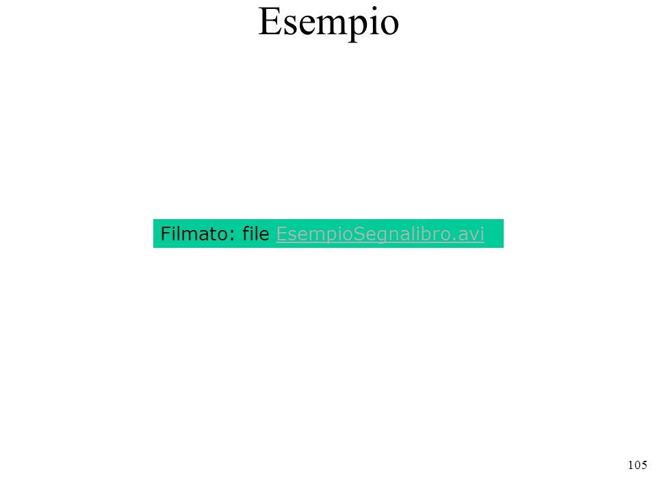 105 Esempio Filmato: file EsempioSegnalibro.avi
