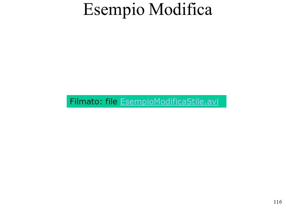 116 Esempio Modifica Filmato: file EsempioModificaStile.avi