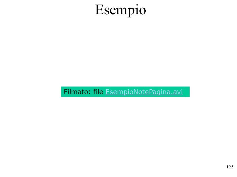 125 Esempio Filmato: file EsempioNotePagina.avi
