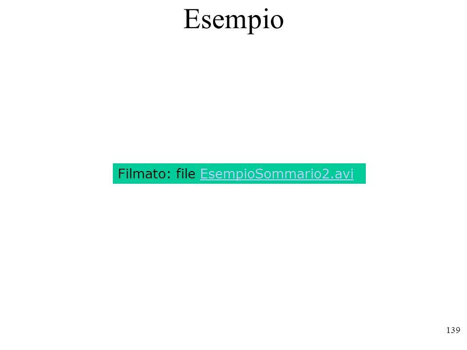 139 Esempio Filmato: file EsempioSommario2.avi