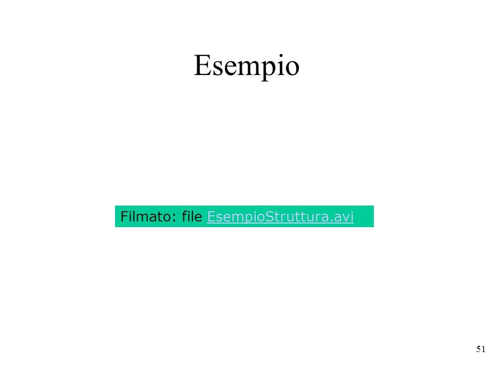 51 Esempio Filmato: file EsempioStruttura.avi