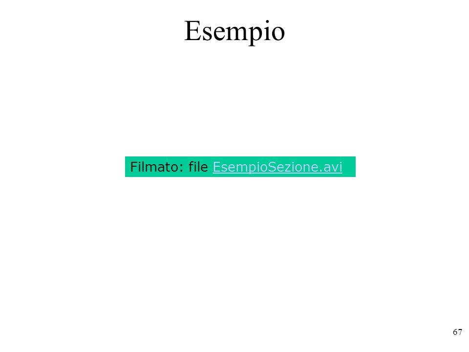 67 Esempio Filmato: file EsempioSezione.avi