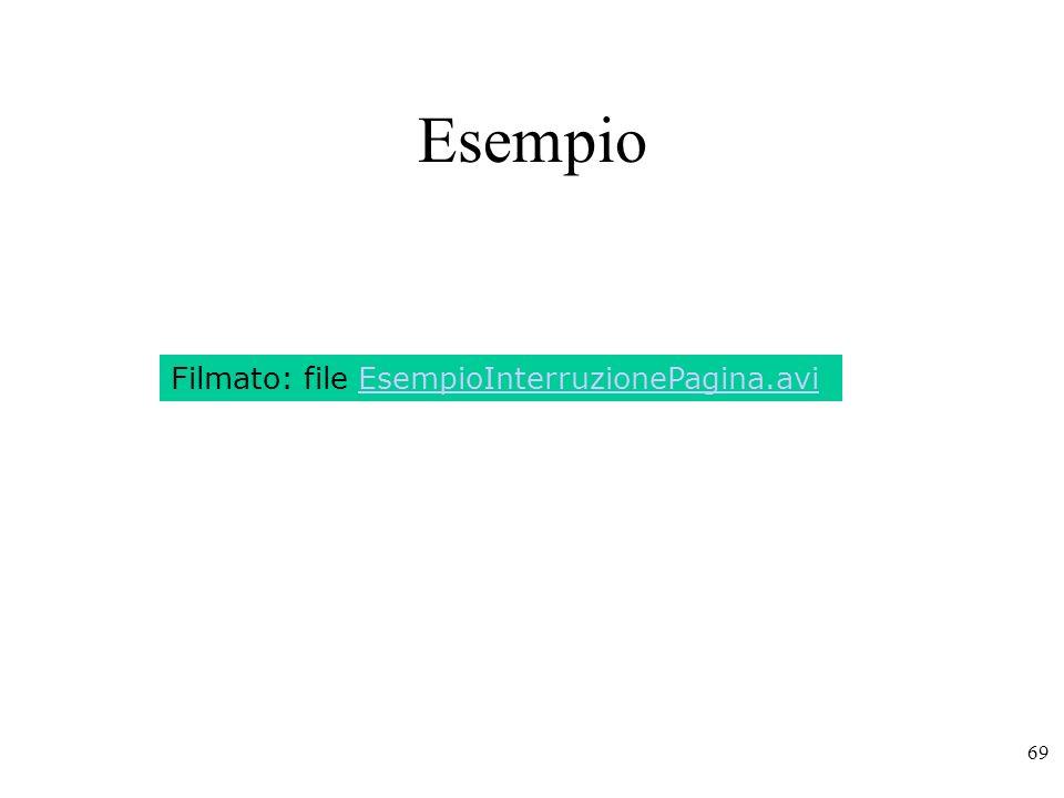 69 Esempio Filmato: file EsempioInterruzionePagina.avi