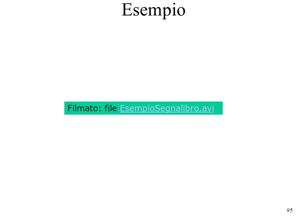 95 Esempio Filmato: file EsempioSegnalibro.avi