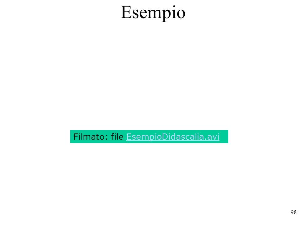 98 Esempio Filmato: file EsempioDidascalia.avi