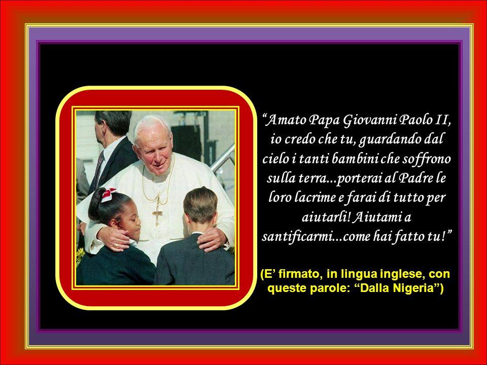 Caro Papa Giovanni Paolo II, grazie per averci amato così.